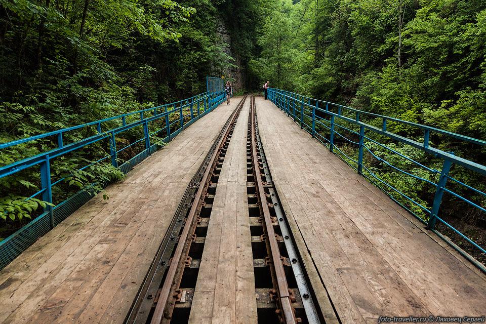 Железнодорожный мост в Гуамском ущелье